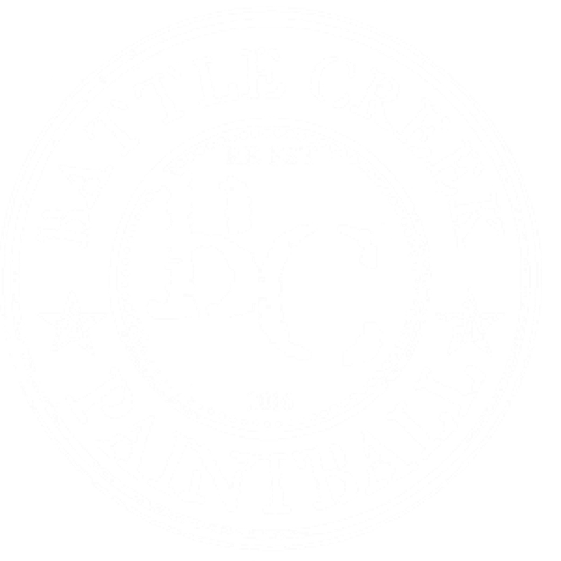 White Battle Creek Paintball Logo